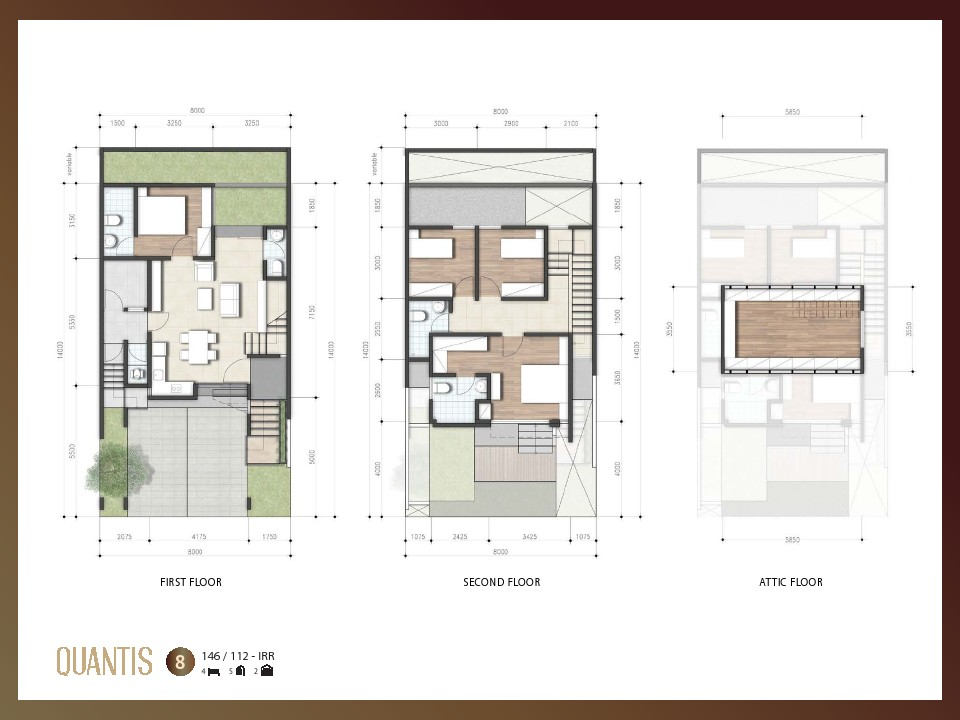 layout quantis signature bsd city lebar 8