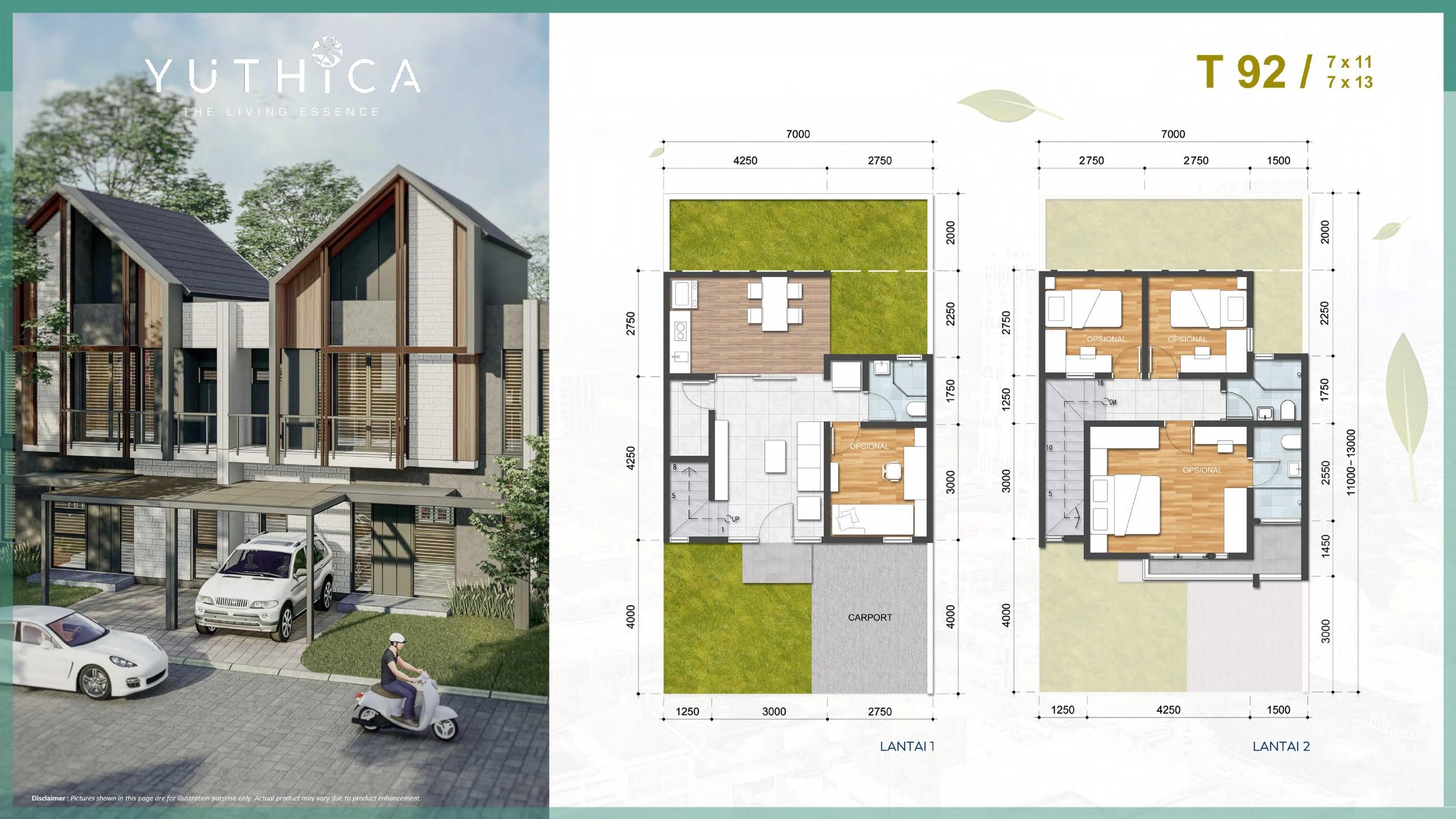 layout yuthica bsd lebar 7