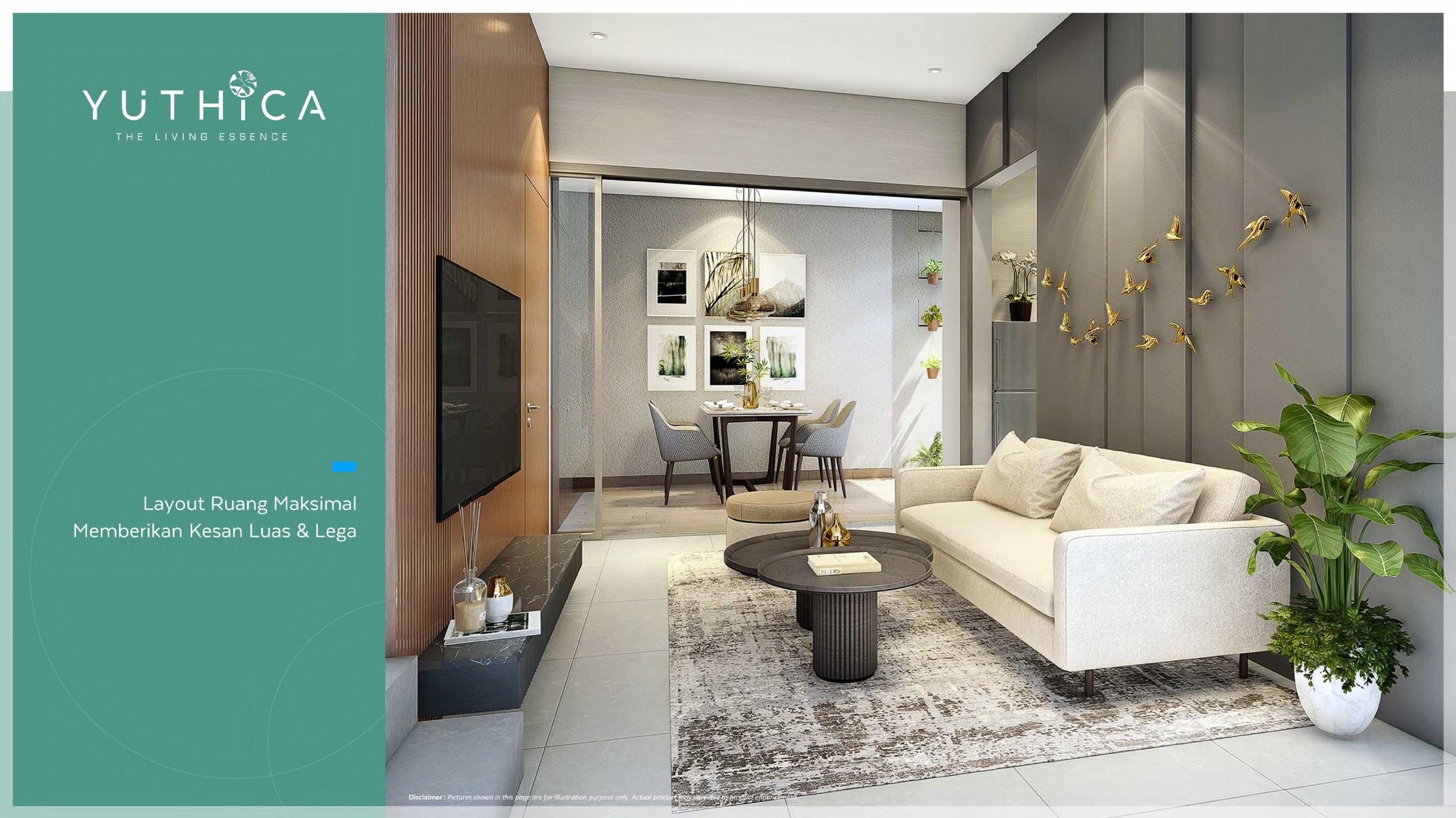 living room yuthica bsd tipe 7