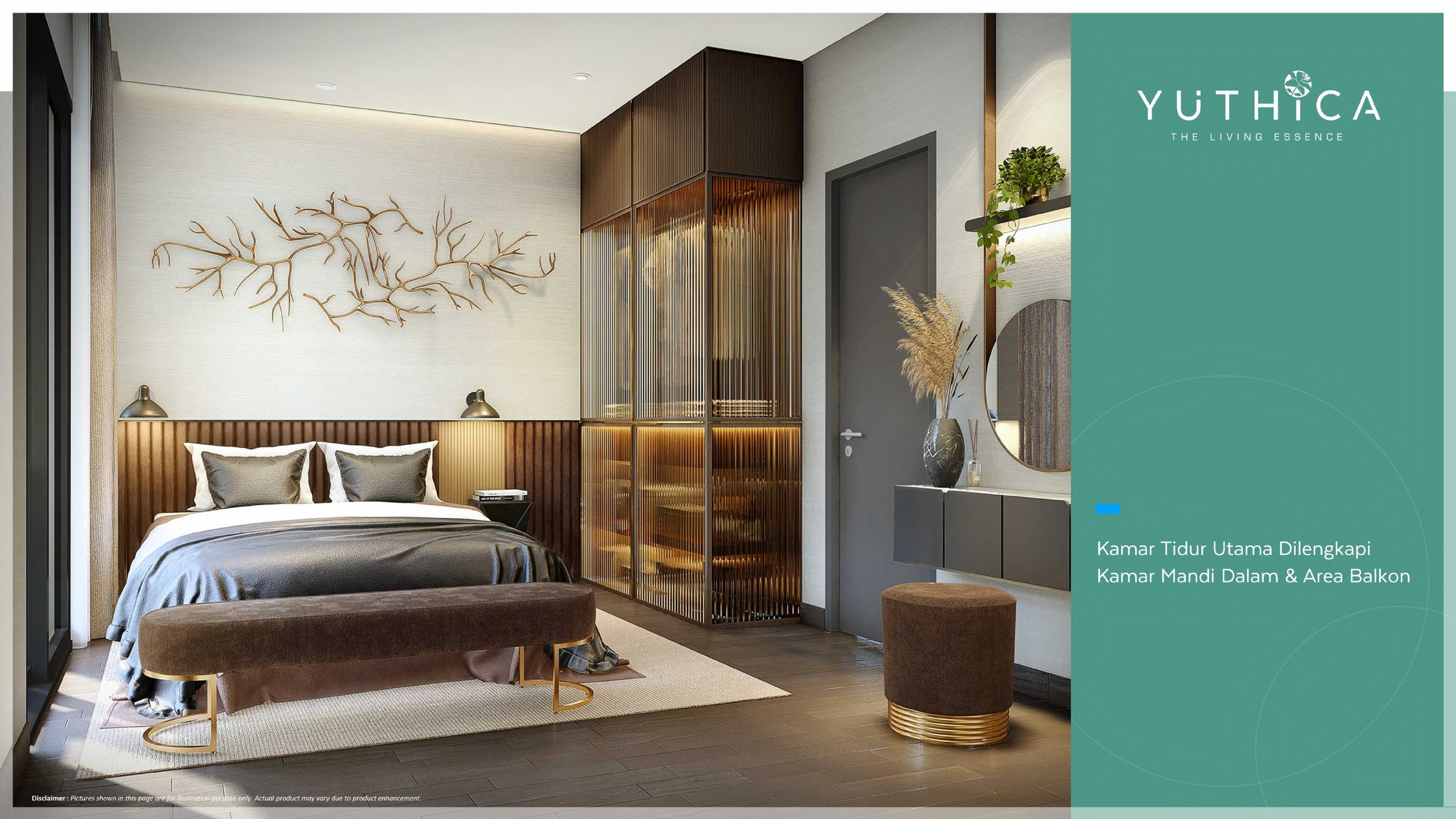 master bedroom yuthica bsd
